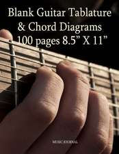 Blank Guitar Tablature & Chord Diagrams
