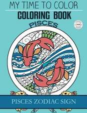 Pisces Zodiac Sign - Adult Coloring Book