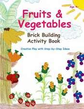 Fruits & Vegetables - Brick Building Activity Book