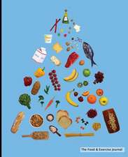 The Food & Exercise Journal - Food Pyramid Design (Blue)