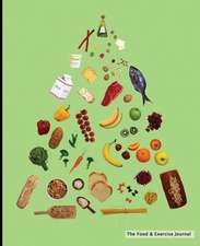 The Food & Exercise Journal - Food Pyramid Design (Green)