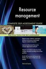 Resource Management Complete Self-Assessment Guide
