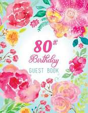 80th Birthday Guest Book
