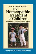 Homeopathic Treatment of Children:  Pediatric Constitutional Types