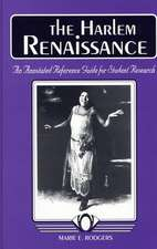 The Harlem Renaissance:  An Annotated Reference Guide for Student Research