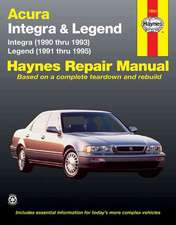 Acura Integra (1990 Thru 1993) & Legend (1991 Thru 1995)