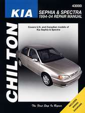Chilton:  Kia Sephia, Spectra & Sportage 1994-10 Repair Manual