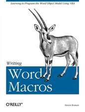 Writing Word Macros Rev