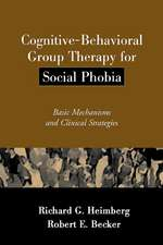 Cognitive-Behavioral Group Therapy for Social Phobia