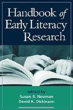 Handbook of Early Literacy Research, Volume 1