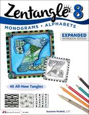 Zentangle 8:  Monograms * Alphabets