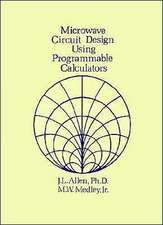 Microwave Circuit Design Using Programmable Calculators