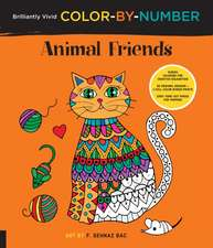 Brilliantly Vivid Color-By-Number: Animal Friends: Guided Coloring for Creative Relaxation--30 Original Designs--Easy Tear-Out Pages for Framing