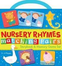 Nursery Rhyme Matching Pairs Book & Game Set