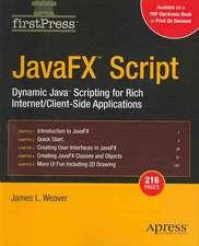 JavaFX Script: Dynamic Java Scripting for Rich Internet/Client-side Applications