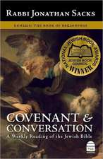 Covenant & Conversation:  The Book of Beginnings