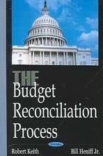 Budget Reconciliation Process
