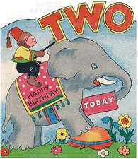 Monkey on Elephant - 2nd Birthday - Greeting Card