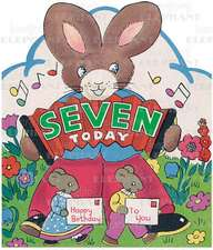 Rabbit W/ Accordion - 7th Birthday - Greeting Card