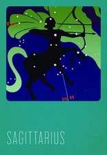 Sagittarius Silk Screened Greeting Card