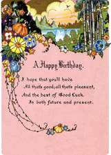 Floral Landscape Birthday Card [With Envelope]