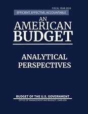Analytical Perspectives, Budget of the United States, Fiscal Year 2019