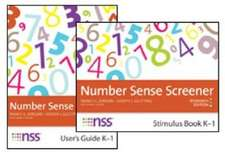 Number Sense Screener (Nss ) Record Sheets, K 1, Research Edition