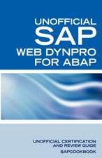 SAP Web Dynpro for ABAP Interview Questions:  Unofficial SAP Web