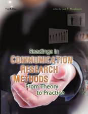 Readings in Communication Research Methods:  From Theory to Practice