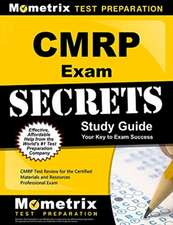 CMRP Exam Secrets, Study Guide:  CMRP Test Review for the Certified Materials & Resources Professional Examination