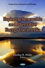 Exploring Renewable & Alternative Energy Use in India