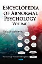 Encyclopedia of Abnormal Psychology