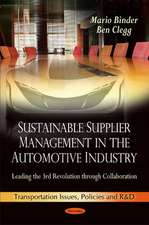 Sustainable Supplier Management in the Automotive Industry