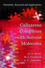 Calixarene Complexes with Solvent Molecules