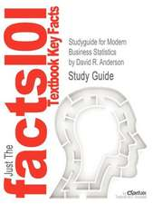 Studyguide for Modern Business Statistics by Anderson, David R., ISBN 9780538479752