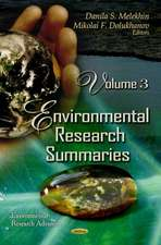 Environmental Research Summaries