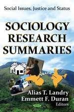 Sociology Research Summaries