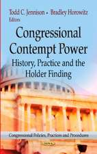 Congressional Contempt Power