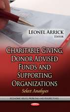 Charitable Giving, Donor Advised Funds & Supporting Organizations