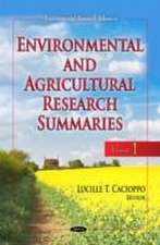 Environmental and Agricultural Research Summaries