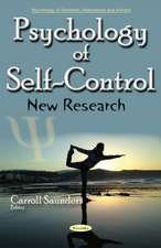 Psychology of Self-Control: New Research