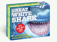 Great White Shark 500-Piece Jigsaw Puzzle & Book