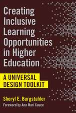 Creating Inclusive Learning Opportunities in Higher Education: A Universal Design Toolkit