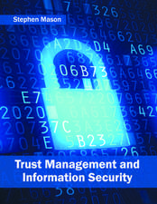 Trust Management and Information Security