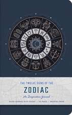 Twelve Signs of the Zodiac Hardcover Ruled Journal