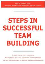 Steps in Successful Team Building - What You Need to Know: Definitions, Best Practices, Benefits and Practical Solutions