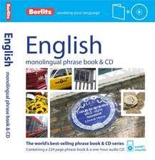 Berlitz Language: English Phrase Book & CD