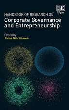 Handbook of Research on Corporate Governance and Entrepreneurship