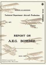 Report on A.E.G. Bomber, March 1918reports on German Aircraft 3