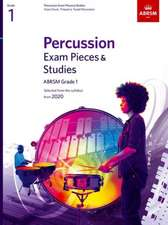Percussion Exam Pieces & Studies, ABRSM Grade 1: Selected from the syllabus from 2020
